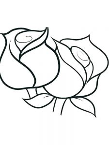 Rose Coloring Pages For Kindergarten