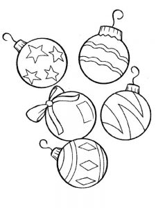 Round Christmas Ornament Coloring Page
