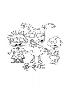 Rugrats Characters Coloring Pages