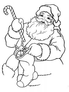 Santa Christmas Coloring Pages To Print Free