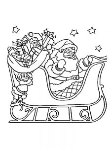 Santa Christmas Coloring Pages pdf