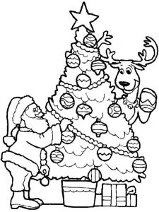 Santa Coloring Pages Printable pdf