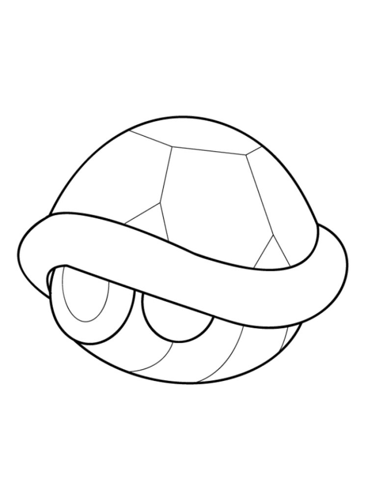 Scallop Shell Coloring Page