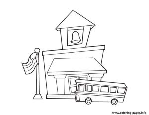 School House Back To School Coloring Pages Printable