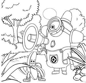 Searching banana minion coloring pages
