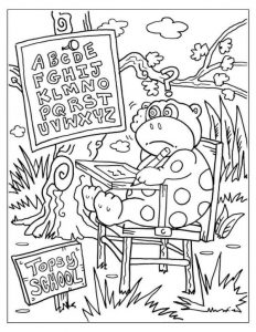 Second Grade Back To School Coloring Pages