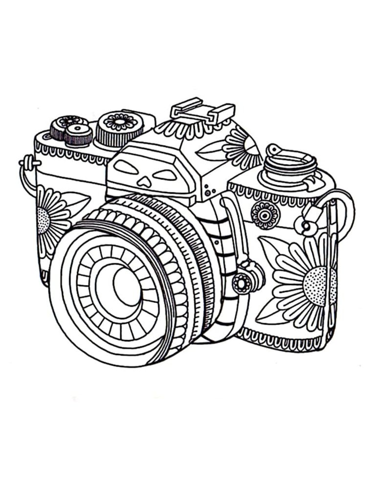 Security Camera Coloring Page