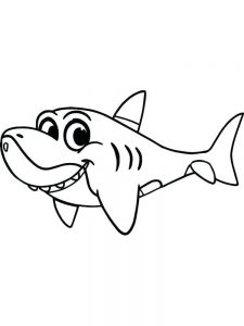 Shark And Fish Coloring Pages