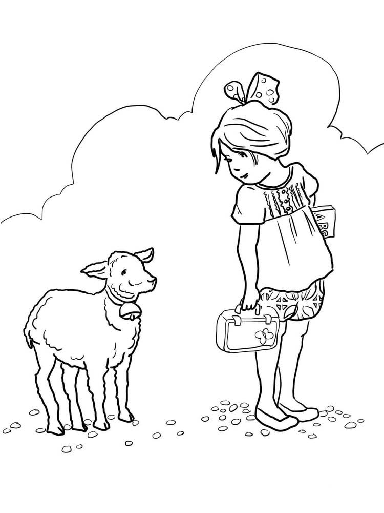 Sheep Coloring Pages Printable