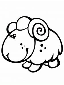 Sheep Coloring Sheets Pictures