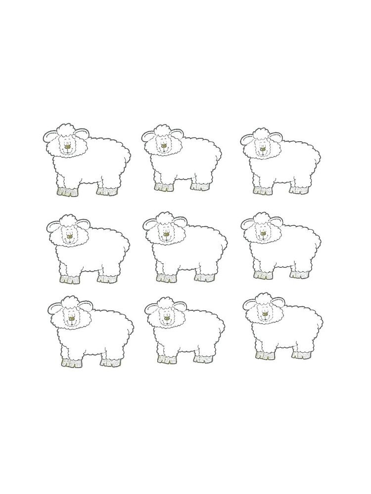 Sheep Colouring In Pages