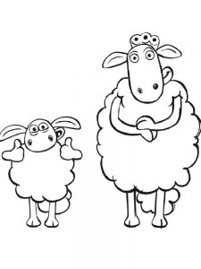 Sheep Colouring Pages Free