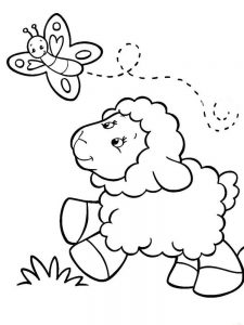 Sheep In A Jeep Coloring Pages