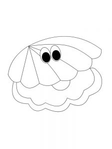 Shell Coloring Page Printable