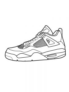 Shoes Coloring Pages Free