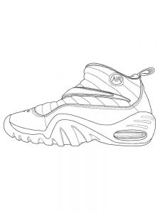 Shoes Coloring Pages Jordans