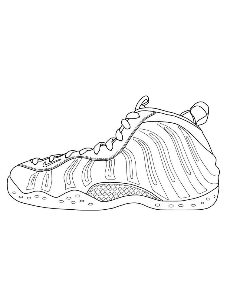 Shoes Colouring Page