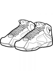 Shoes Colouring Pages