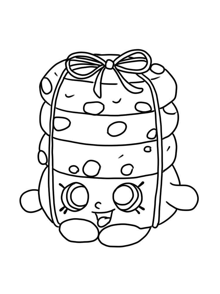 Shopkins coloring page seasion 6 stacks cookie print