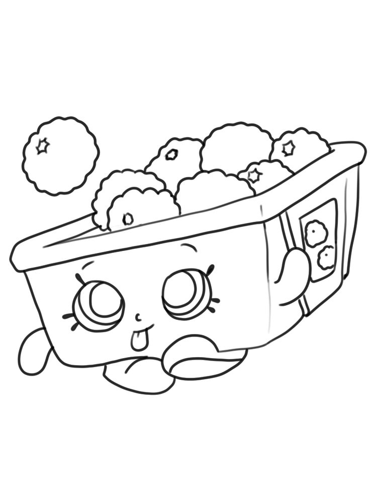 Shopkins for coloring ros berry print
