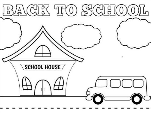 Simpel back to school coloring pages