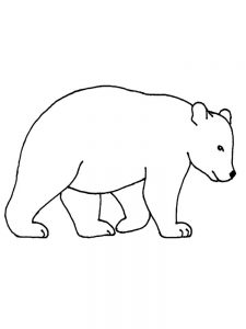 Simple bear coloring pages