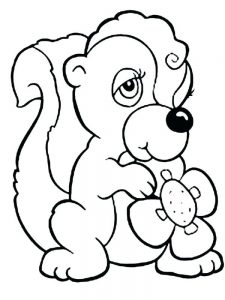 Skunk Coloring Pages Printable