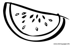 Sliced Watermelon Fruit Coloring Pages Printable