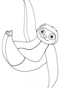 Sloth Coloring Pages Pdf