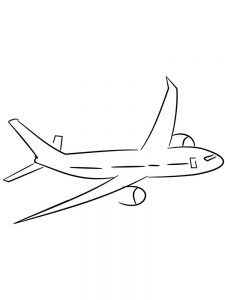 Small Airplane Coloring Pages
