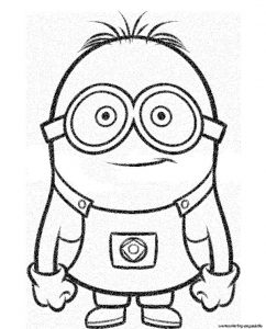 Smiley Minion Despicable Me Coloring Pages Printable