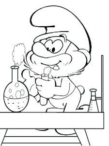 Smurf Colouring Pages Printable