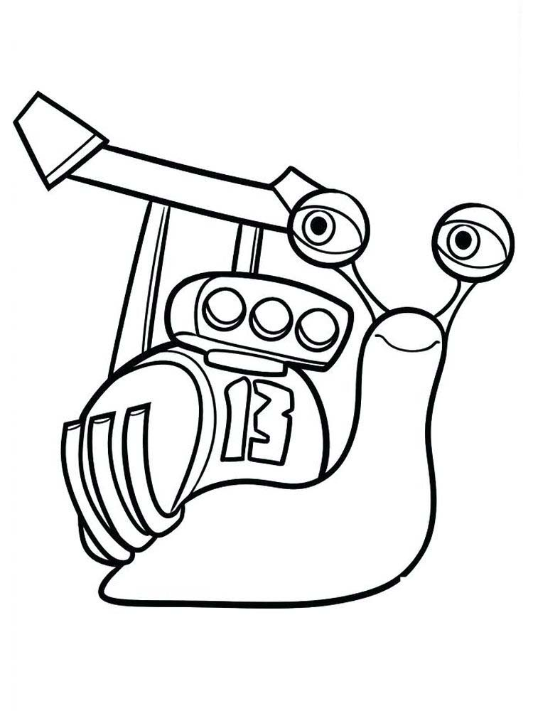 Snail Shell Coloring Page 1