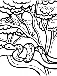 Snake Coloring Page Printable