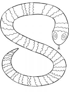 Snake Coloring Pages Craft