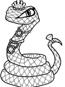 Snake Coloring Pages Realistic