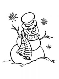 Snowman Coloring Page For Toddlers