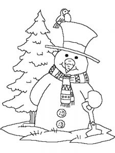 Snowman Coloring Page Free