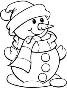 Snowman Coloring Pages Easy