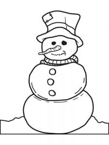 Snowman Coloring Pages Kindergarten