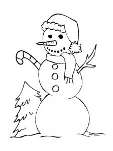 Snowman Coloring Pages Pinterest