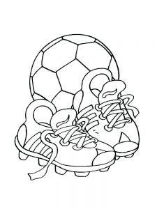 Soccer Ball Christmas Coloring Pages