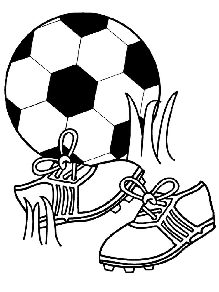 Soccer Ball Coloring Page Free
