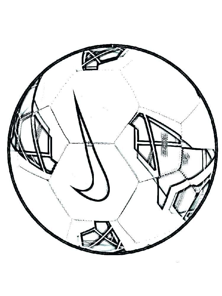 Soccer Ball Coloring Pages For Preschoolers