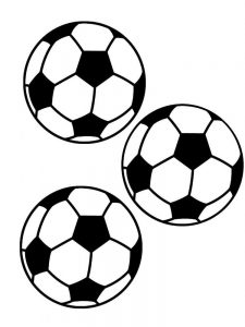 Soccer Balls Coloring Page