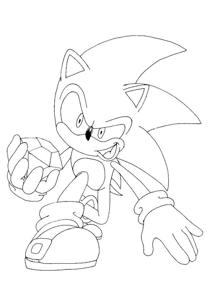 Sonic Hedgehog Characters Coloring Pages
