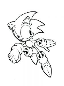 Sonic Hedgehog Coloring Page