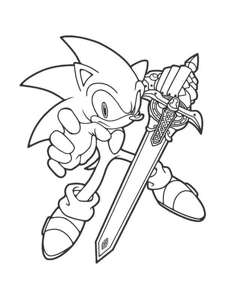 Sonic Hedgehog Colouring Pages Free