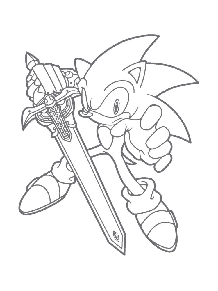 Sonic The Hedgehog Coloring Pages Online
