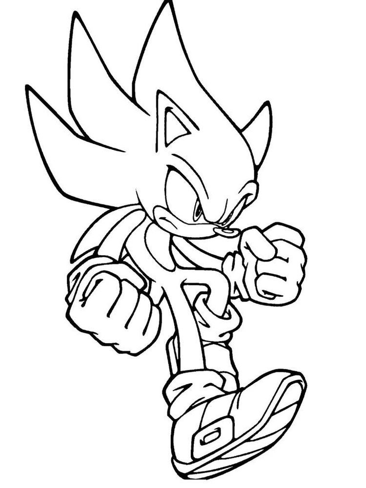 Sonic The Hedgehog Coloring Pages To Print